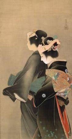 Springtime of Life - Uemura Shoen    Painting by Uemura Tsune aka Uemura Shoen (Japanese, 1875 - 1949) Meiji period artist in the Nihonga style