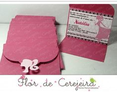 Convite Barbie - Simples 10X7cm