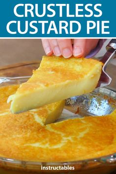 Pie recipes 350999364709261673 - Bake up a crustless custard pie for your next family or holiday gathering. Custard Desserts, Mini Desserts, Easy Desserts, Delicious Desserts, Custard Pies, Magic Custard Cake, Coconut Custard, French Dessert Recipes, Lemon Dessert Recipes