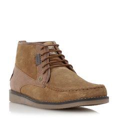 Original Penguin Fall suede mocc toe chukka boots, Tan