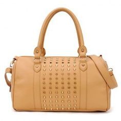 $14.09 Fashion Style Women's Street Level Handbag With Tote and Rivets Design