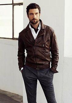 ライダースジャケットと ■40代アラフォー『スラックス』メンズ