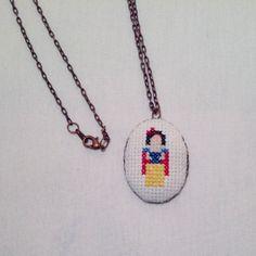 Snow White Princess Necklace Disney Fan Gift by SynapsetoSynapse, $32.00