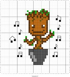 We Are Groot Guardians Of The Galaxy Cross Stitch Pattern