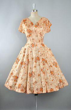 448b6a2fda8 Vintage 50s SPIDER WEB Novelty Print Dress 1950s Sundress