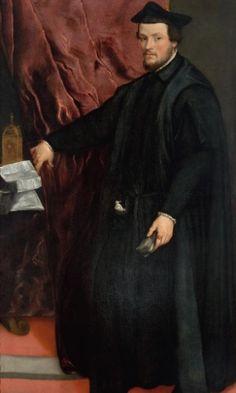 Titian (Pieve di Cadore {Belluno}, 1488/90 - Venice, 1576) - Portrait of the Cardinal Cristoforo Madruzzo, 1552. MASP (Museu de Arte de São Paulo Assis Chateaubriand), Brazil.