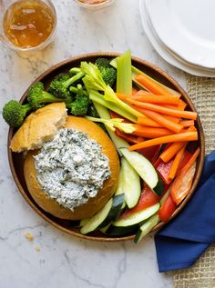 Hidden Valley Original Ranch Spinach Dip. The secret ingredient in this addictive dip? The ranch! Simply stir together Hidden Valley Ranch Dips Mix, sour cream, frozen spinach (thawed and drained), and water chestnuts for crunch. Serve in a bread bowl with veggies on the side. Yum!