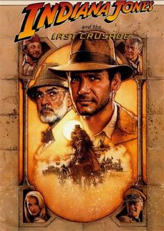Harrison Ford Sean Connery Indiana Jones Last Crusade DVD 2008 Steven Spielberg Harrison Ford, Classic Movie Posters, Movie Poster Art, Classic Movies, Print Poster, Poster Wall, Art Print, Pulp Fiction, Indiana Jones Last Crusade
