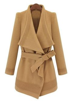 Shop Camel Long Sleeve Drawstring Waist Asymmetrical Coat online. Sheinside offers Camel Long Sleeve Drawstring Waist Asymmetrical Coat & more to fit your fashionable needs. Free Shipping Worldwide!