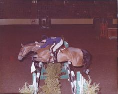 Don Brisk & Jill Davies in the Amateur-Owner Jumpers at the 1976 Pennsylvania National Horse Show