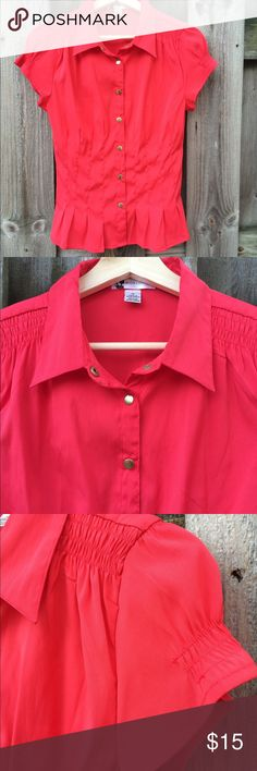 Body Central Med button down top Red Super cute top , red , gold tone buttons, great details. EUC Body Central Tops Blouses