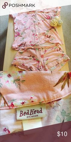 BedHead Pink Pajama Set BedHead pink pajama set with button down top and shorts. Size small. Made in the USA. In good used condition. Some pilling on fabric. Too short for my long torso. BedHead Intimates & Sleepwear Pajamas