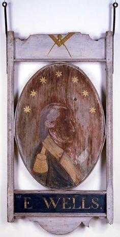 E. Wells Tavern Sign,1809-1816,Greenfield,Massachusetts
