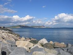 A view of Stonebarrow and the Golden Cap from Monmouth Beach.