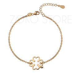 Pozłacana bransoletka celebrytka z koniczynką <3 #bransoletka #celebrytki