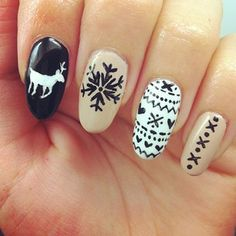holiday nail art // adorable!