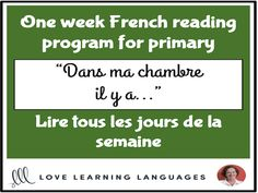 Lire tous les jours de la semaine - French primary reading program Theme: Dans ma chambre… This one week French reading comprehension program will have . Reading Comprehension Activities, Reading Worksheets, Writing Activities, Writing Programs, Writing Assignments, Writing Prompts, Pre Writing, Kids Writing, Lesson Plan Pdf
