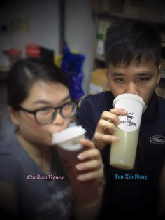 """Counting down to our 6th Valentine's Day together! Thanks bro for getting a drink from KAFFESPA for us! What we really need to fight a hectic day at work! But most of all, thanks Tan Xin Rong who is always there for me!"" Chuihan Haney"