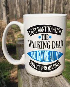 The Walking Dead Inspired Coffee mugs by FourWinks on Etsy