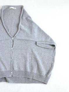 evam eva/商品詳細 dry cotton drop shoulder cardigan