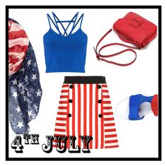 """4th of July"" by natalia-isikova ❤ liked on Polyvore featuring Dolce&Gabbana, Miss Selfridge, STELLA McCARTNEY, redwhiteandblue and july4th"