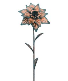 This Daffodil Patina Flower Stake is perfect! #zulilyfinds