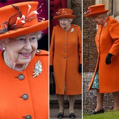 Our radiant Queen in orange for Christmas Service #LLTQ #GSTQ 12.25.17 Source DailyMailUK via ✨ @padgram ✨(http://dl.padgram.com)
