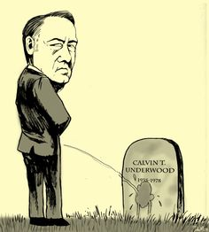 "When Frank peed all over his father's grave. | 8 WTF Moments From ""House Of Cards"" Season 3"