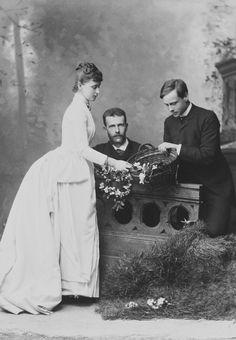 Grand Duchess Elizabeth, Grand Duke Serge with Ernest of Hesse, Elizabeth's brother