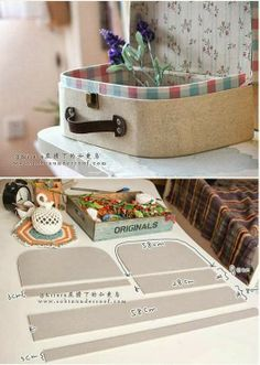 Mala de viagem retro - cartonagem - DIY - * My Dream House *