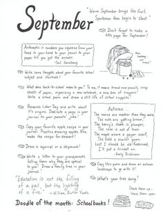 September art journaling ideas… this chick is amazing! she does monthly lists of journal ideas!