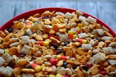 I have been making this snack mix for years, it gets devoured by kids and adults. The salty sweet is such a good combination, the tang of the cranberries adds the unexpected. It couldn't be easie...