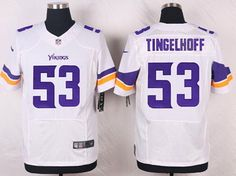 Minnesota Vikings #53 Mick Tingelhoff White Retired Player NFL Nike Elite Men's Jersey