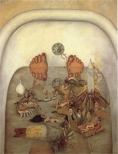 1938 What the Water Gave Me. Frida Kahlo.