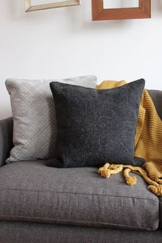 Washed Linen Charcoal Pillow