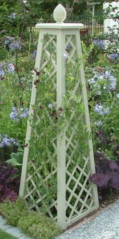 Garden obelisk - 54 Amazing Wooden Garden Planters Ideas You Should Try – Garden obelisk Garden Arbor, Garden Trellis, Garden Landscaping, Plant Trellis, Rose Trellis, Garden Fences, Potager Garden, Herbs Garden, Garden Shrubs