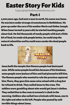 This is Easter Story For Kids to read online. Read full story from the link above. Easter Story For Kids, Easter Stories, Short Stories For Kids, English Story, English Reading, 13 Year Olds, Reading Comprehension, Reading Online, Bedtime