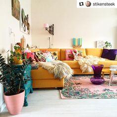 61 vind-ik-leuks, 2 reacties - www.rozenkelim.nl (@rozenkelim) op Instagram: 'Tx @stikensteek for sharing this picture! This rug fits in your nice interior! #choices #vintagelook'