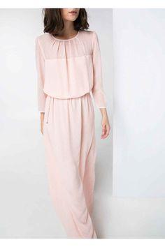 Mango 2014 Summer Outfits 2014, Rose Dress, Pink Dress, Maxi Skirt Outfits, 33c59942d19b