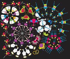 Xmas Fireworks! fabric by muymajobv on Spoonflower - custom fabric