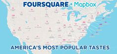 Check out this cool interactive map of where to find America's Most Popular Tastes @foursquare & @Mapbox
