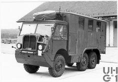 Swiss Army Saurer M6  Funkkraftwagen (radio truck) Volvo Trucks, Panzer, Armored Vehicles, Swiss Army, Military Vehicles, Recreational Vehicles, Exotic Cars, Tractors, Tanks