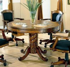 Home kitchen dining room sets on pinterest dining for Oak beauty pool table