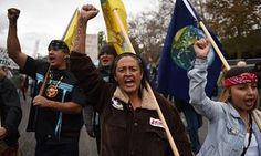 Protestors march against the Dakota Access pipeline in California. Trump revived the project after taking office.