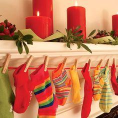 Адвент-календарь из носочков