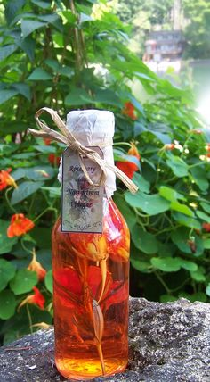 At Home On Paradise Cove: Rosemary and Nasturtium Vinegar