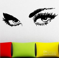 Beautiful Eyes Silhouette Removable Wall Art Wall By SignsHalf - Wall stickershuhushopxaudrey hepburn beautiful eyes removable