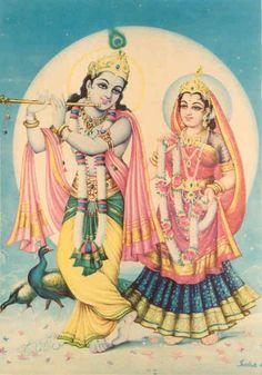 Radha and Krishna.