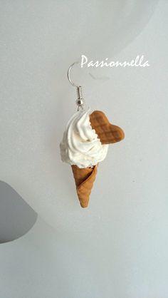 Boucles d'oreilles cornets glace italienne Fimo de Passionnella sur DaWanda.com