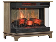Duraflame PanoGlow Chico Oak Infrared Electric Fireplace Stove w/ Remote Control| 24WM6549-PO127 | Duraflame